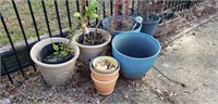 Large lot of Outdoor Flower pots