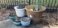 Lot of Outdoor Items & Flower Pots