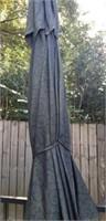 Large Outdoor Umbrella & 2 Stands