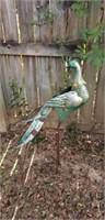 Lot of 2 Ornamental Metal Peacocks