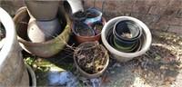 Large Lot of Flower Pots & More