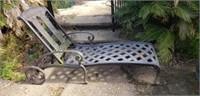 Stunning Heavy Cast Aluminum Lounge Chair