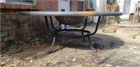 Stunning Large Heavy Cast Aluminum Grill Table
