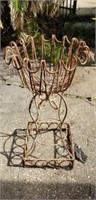 Nice Vintage Metal Outdoor Plant Stand