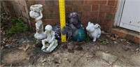 Lot of Misc. Outdoor Figures Dog & More