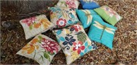 Lot of 9 Outdoor Furniture Cushions