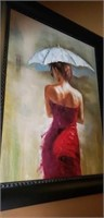 Beautiful large on canvas painting of a women