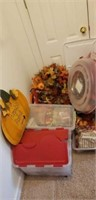 Large lot of thanksgiving decor