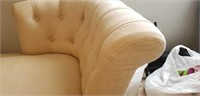 Beautiful white upholstered lounge chair
