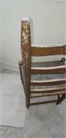 Wood ladder back chair