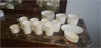 Large set of Mikasa cups, saucers, ect
