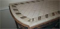Beautiful Iron front tile top sofa table