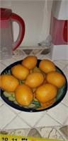 Fresh tea iced tea maker, tea jug, faux lemons