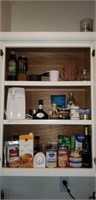 Entire kitchen cabinet of food, some out of date