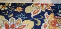 """Francesca blue floral rug 3'-6"""" x 5'-6"""""""