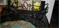 Handmade pottery, metal table decor, & more