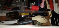 Kitchen drawer of utensils
