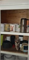 Estate lot of 3 Kitchen Cabinet Misc. Items