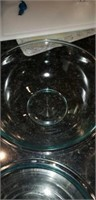 Nesting set of 3 clear pyrex bowls