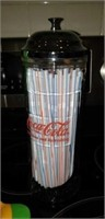 Flavor infuser bottle, coca cola straw disp.