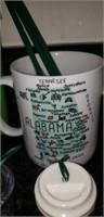 Estate lot of Starbucks cups, bear, Christmas