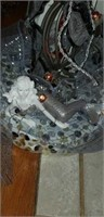 Chef step stool, dog bowls, mermaid centerpieces