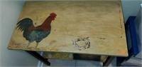 Light Weight Wooden Handpainted Rooster Table