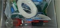 2 Drawer White Sterilite Full of Household Misc