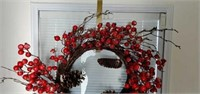 Pair of Beautiful Holiday Christmas Wreaths
