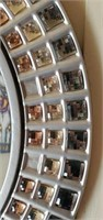 Beautiful Round Bedazzled Bevelled Glass Mirror