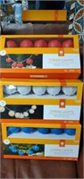 Lot of 3 Boxes of String Lights- Red White & Blue