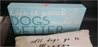 Lot of 4 dog decor
