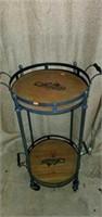 La Couspaude Metal Roll Around Cart Serving Trays