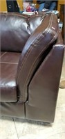 Dark Brown 2 pc Leather Like Sectional Sofa
