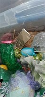 Large Clear Tote Full of Easter Decorations