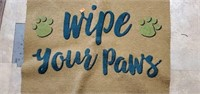 Pair of Brown & Teal Wipe Your Paws Doormats