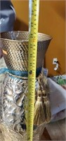 Large Beautiful Metal Decorative Vase