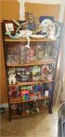 5 tier wood foldable shelf
