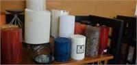 Estate shelf of candles