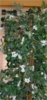 Tall Faux Tree with Little White Flowers