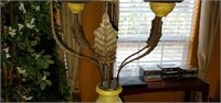 Large Beautiful Chalkware Candle Holder