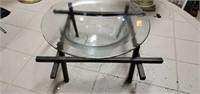 Beautiful Metal Base Blown Glass Bowl Decor