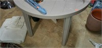 Small Round Grey Plastic Table