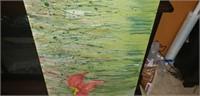 Large wood panel painted