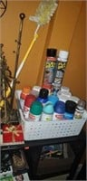 Estate lot of spray paint, ect