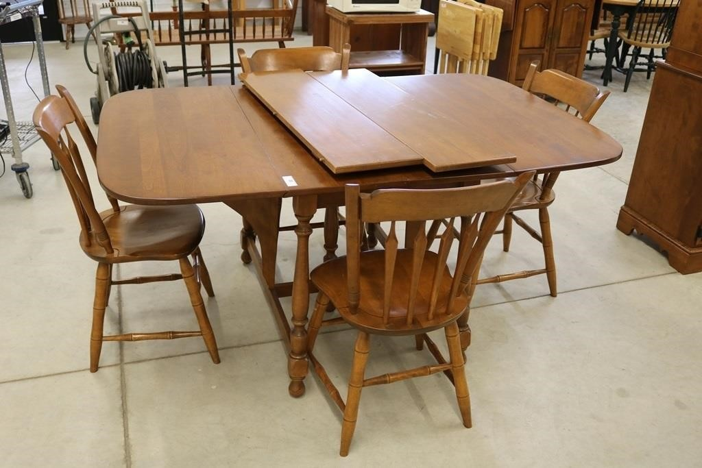 Ethan Allen Dining Table Chairs Fraise Auction Real Estate