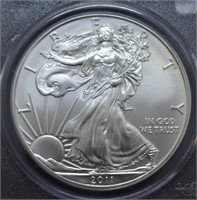 2011 SILVER EAGLE FIRST STRIKE PCGS MS70
