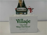 Department 56 Village our own Village Park Bench