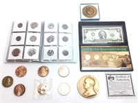 COPPER COMMEMORATIVE 1 OUNCE COINS, FOREIGN COIN