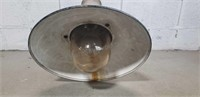 Vintage enamel industrial light fixture